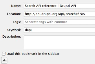 Drupal API search
