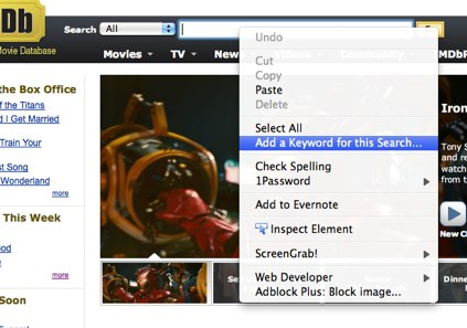 IMDB Search Box